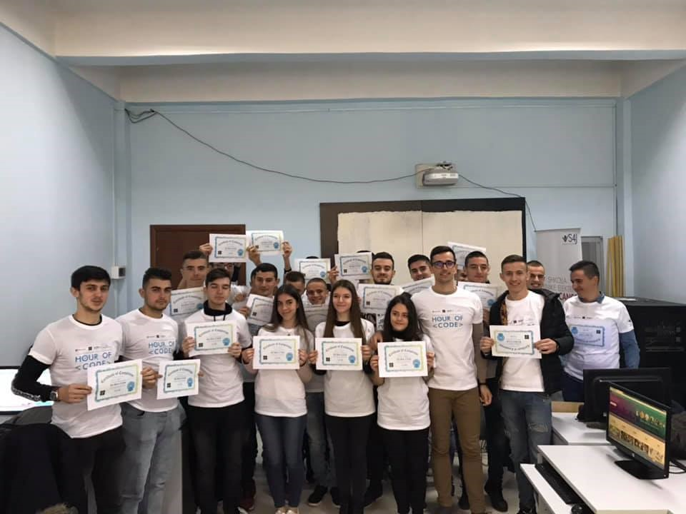 Swisscontact albania teams up with microsoft to organize 'hour of code' activities