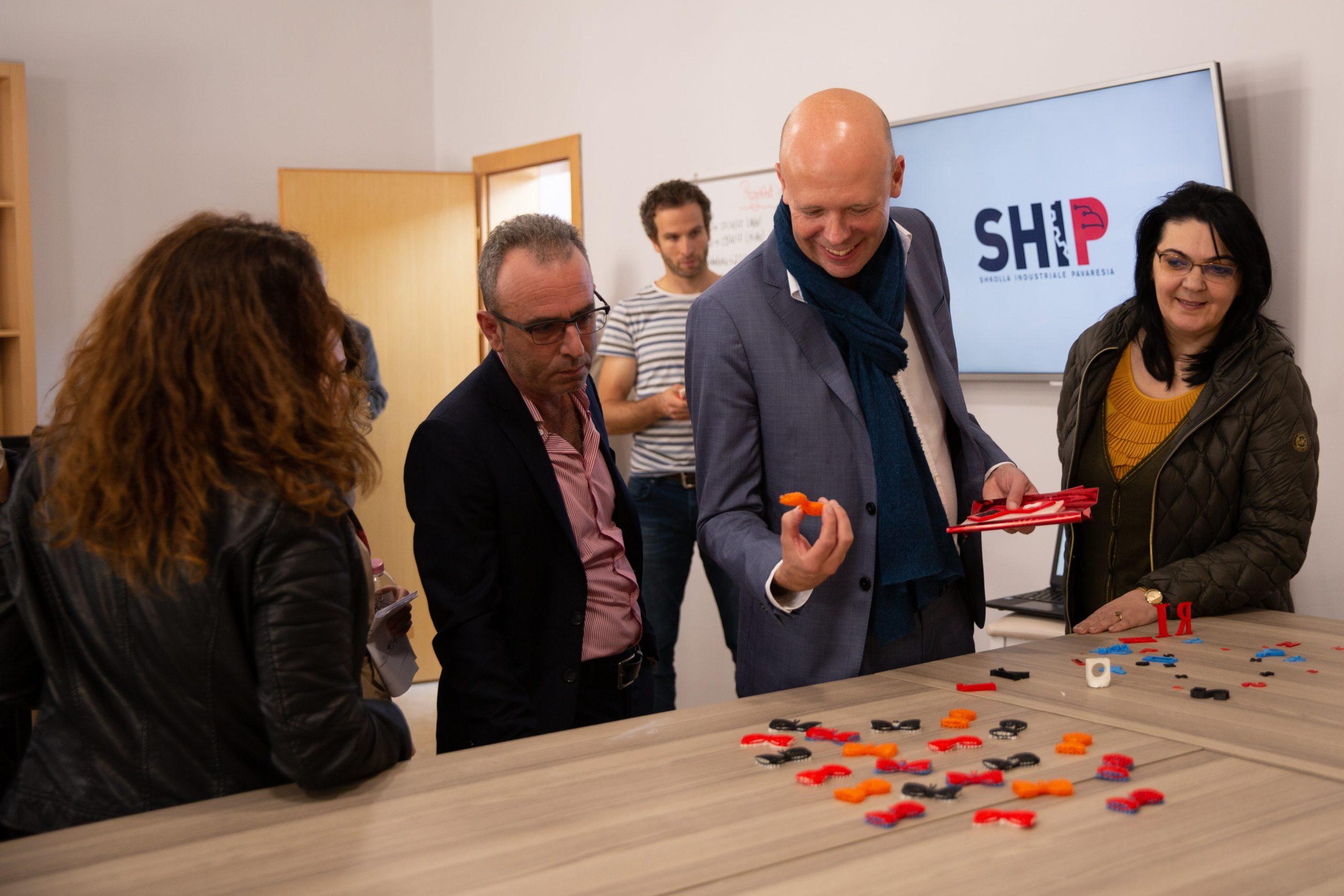 SHIP HOSTS THE VISIT OF TEACHERS FROM SWISS SCHOOL IDM